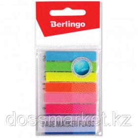 Закладки самоклеящиеся Berlingo, пластиковые, 45*8 мм, 8 цветов НЕОН, 160 листов