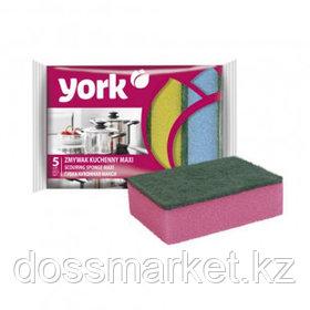 """Губки для мытья посуды York """"Maxi"""", в комплекте 5 шт."""