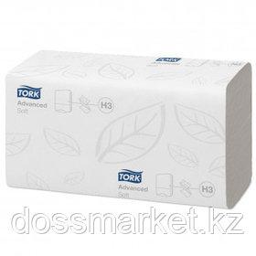 Полотенца бумажные Tork Advanced, 200 шт, 2-х слойные, 23*23 см, ZZ-сложение, белые