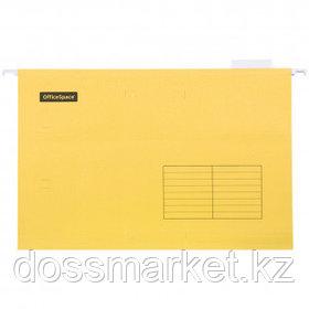 "Папка подвесная OfficeSpace ""Foolscap"", А4+ формат, желтая"