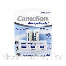 Аккумулятор Camelion AlwaysReady, пальчиковые AA, Ni-MH, 2300 mAh 1.2V, 2 шт, цена за упаковку
