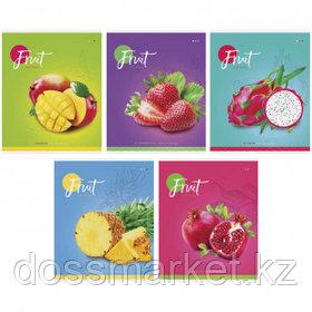 """Тетрадь ArtSpace """"Фрукты. Colorful fruitst"""" А5, 48 листов, в клетку, на скрепке"""