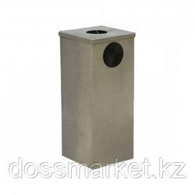 Урна металлическая с емкостью для пепла, 240*240*550 мм, ассорти