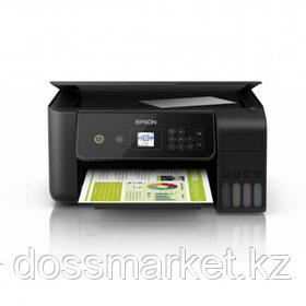 МФУ струйное цветное Epson L3160, A4, 5760*1440, 33 стр/мин, без кабеля USB, Wi-Fi