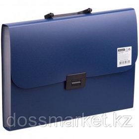 Папка-портфель OfficeSpace, А4 формата, 7 отделений, синий