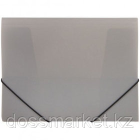 Папка OfficeSpace, А4 формат, 500 мкм, на резинке, серая