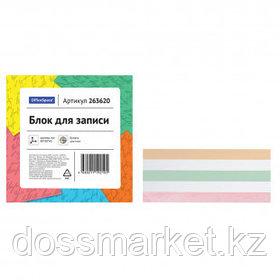 Блок для записей OfficeSpace, сменный, размер 80*80*40 мм, цветной