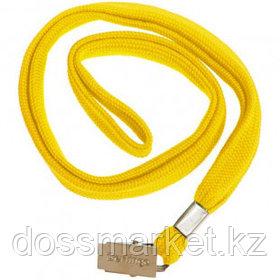 Шнурок для бейджа Berlingo, длина 45 см, металлический зажим, желтый