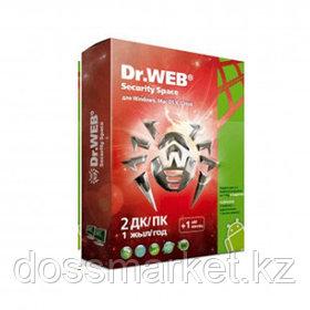 Антивирус Dr.Web Security Space, 2 устройства, подписка на 1 год