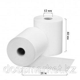 Чековая лента для кассового аппарата, 44 мм*21 м*12 мм