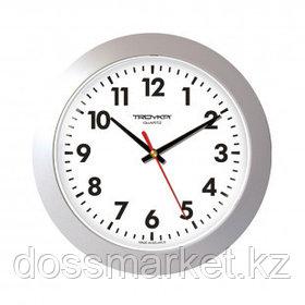 Часы круглые Troyka, d=30 см, серебристые, пластиковые