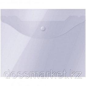 Папка-конверт с кнопкой OfficeSpace, А5, 150 мкм, прозрачная