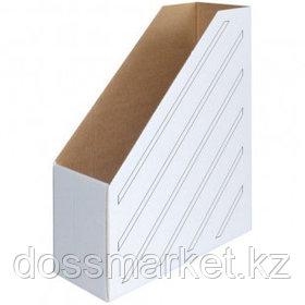 Накопитель-лоток архивный из микрогофрокартона OfficeSpace, вместимость 900 листов, 100 мм, белый