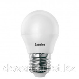 Лампа светодиодная Camelion LED7-G45/865/E27, 7 Вт, 6500К, холодный белый свет, E27, форма шар