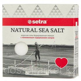 Соль морская пищевая с пониженным содержанием натрия Setra, 500 гр