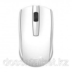 Мышь беспроводная Genius ECO-8100, USB, 3 кнопки, 800-1600 dpi, оптическая, белая