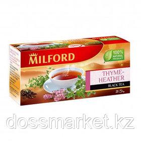 """Чай Milford """"Thyme-heather"""", с чабрецом и цветками вереска, черный, 20 пакетиков"""