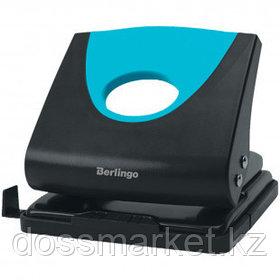 """Дырокол Berlingo """"Office soft"""", захват 20 листов, пластиковый, синий"""