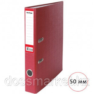 Папка-регистратор Berlingo, А4, ширина корешка 50 мм, бордовая