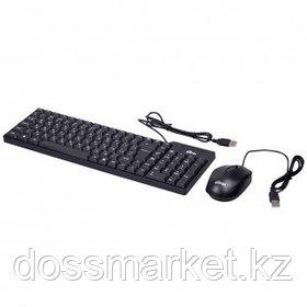 Проводной набор Ritmix RKC-010, клавиатура и мышь, USB, черный