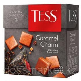 Чай Tess Caramel Charm, черный фруктовый, 20 пирамидок