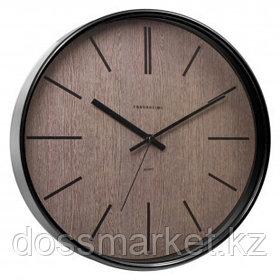 Часы круглые Troyka, d=30,5 см, черные, пластиковые, минеральное стекло