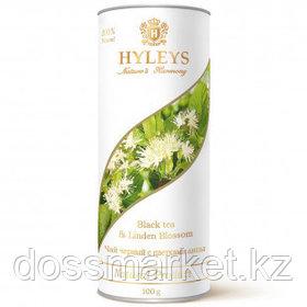 """Чай Hyleys """"Гармония природы"""", черный чай с цветками липы, 100 гр, туба"""