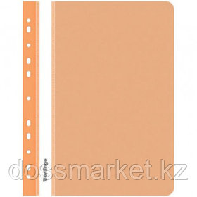 Папка-скоросшиватель Berlingo, А4 формат, 180 мкм, оранжевая, с перфорацией