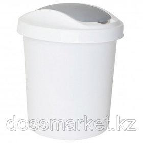 """Ведро-контейнер для мусора Svip """"Ориджинал"""", 12 л, круглое, пластик, белое"""