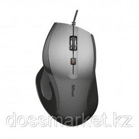Мышь проводная оптическая Trust MaxTrack, USB, 6 кнопок, 1600 dpi, серебристо-черная