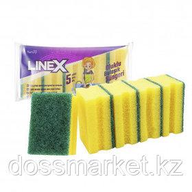 Губки для мытья посуды Linex, профильные, в комплекте 5 шт.