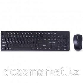 Беспроводной набор Delux DLD-1505OGB, клавиатура и мышь, USB, черный