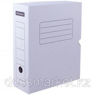 Архивный короб OfficeSpace, 250*150*325 мм, с клапаном, микрогофрокартон, белый