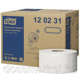 Туалетная бумага в мини-рулонах Tork Advanced, 170 метров, 2-х слойная, белая