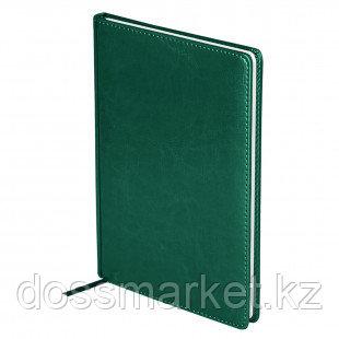"""Ежедневник недатированный OfficeSpace """"Nebraska"""", А4, 136 л, кожзам, зеленый"""