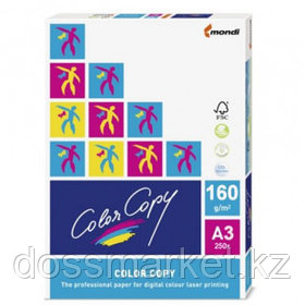 Бумага Color Copy, A3, 160 гр/м2, 250 листов в пачке, матовая