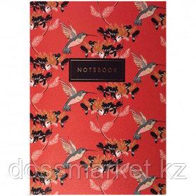 """Записная книжка """"Hummingbird"""", A5, 24 листа, золотое тиснение, слоновая кость"""