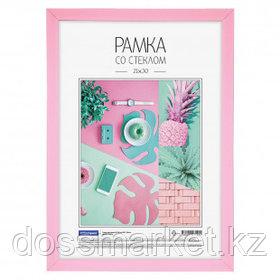 Пластиковая рамка OfficeSpace №6/1, 21*30 см, розовая