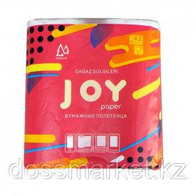 """Полотенца бумажные Маолин """"Joy"""", 3-х слойные, 2 рулона в упаковке, 20 м, белые"""