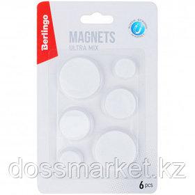 Магниты Berlingo, диаметр 2/3/4 см, 6 штук в упаковке