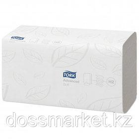 Полотенца бумажные Tork Advanced, 136 шт, 2-х слойные, 21*34 см, Multifold, белые