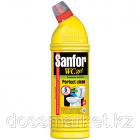 "Средство для уборки туалета Sanfor WC ""Lemon Fresh"", 1000 мл"