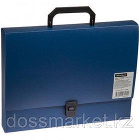 Папка-портфель OfficeSpace, А4 формата, 1 отделение, синий