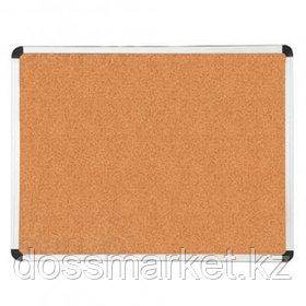 Доска пробковая Deli, для объявлений, размер 60*90 см, металлическая рамка