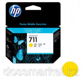 Картридж оригинальный HP CZ132A №711 для DesignJet T120/T520, желтый