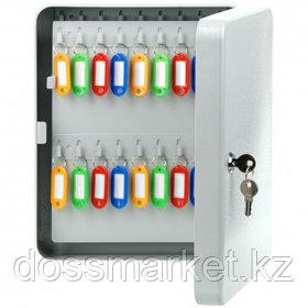Ключница OfficeSpace на 90 ключей, 300*240*80 мм, с брелоками, серая