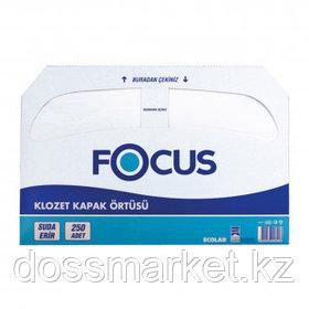 Бумажные прокладки на унитаз Focus, 250 листов