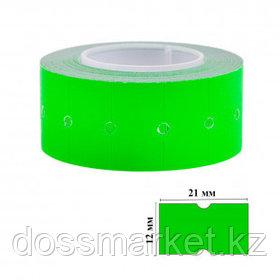 Этикет-ценник OfficeSpace, прямоугольные, 21 мм*12 мм, 500 шт. в рулоне, зеленый