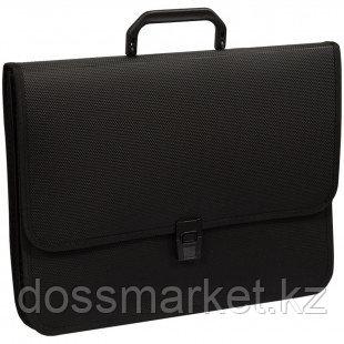 Папка-портфель OfficeSpace, А4+ формата, 2 отделения, на замке, черный