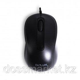 Мышь проводная оптическая Delux DLM-109OUB, USB, 3 кнопки, 1000 dpi, черная